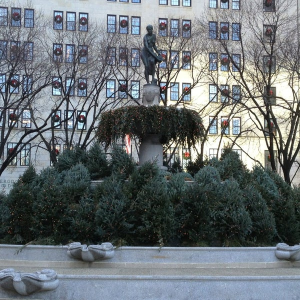 Photo taken at Grand Army Plaza by Joshua on 12/20/2012