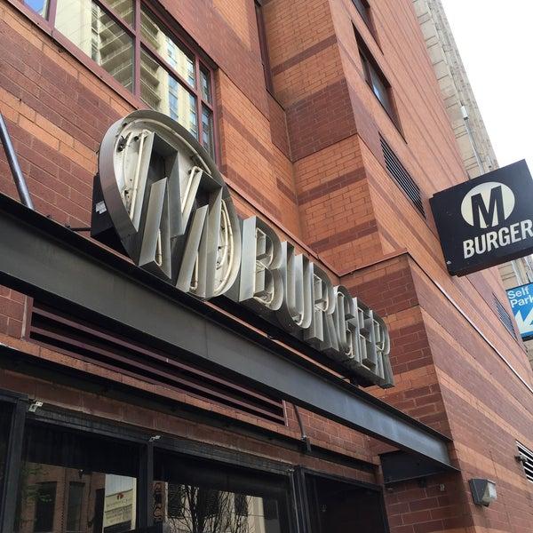 Photo taken at M Burger by Nathan M. on 5/6/2016