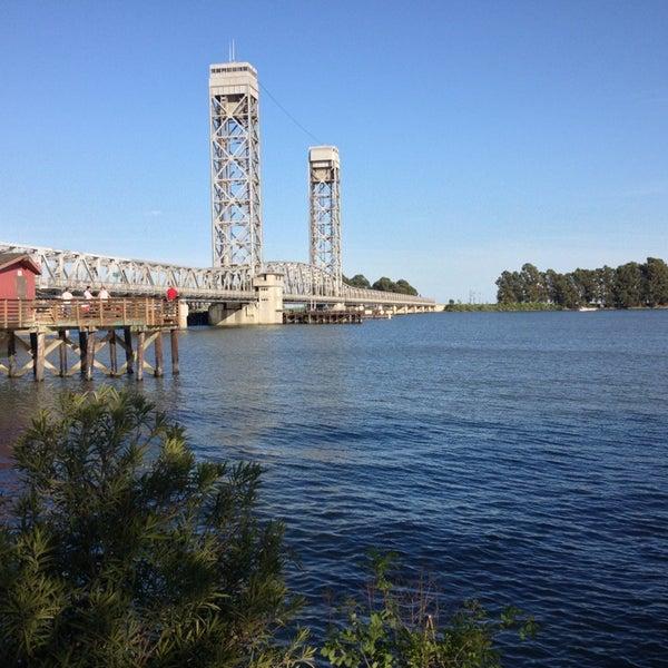 Photo taken at Rio Vista Bridge by msjen r on 4/12/2013