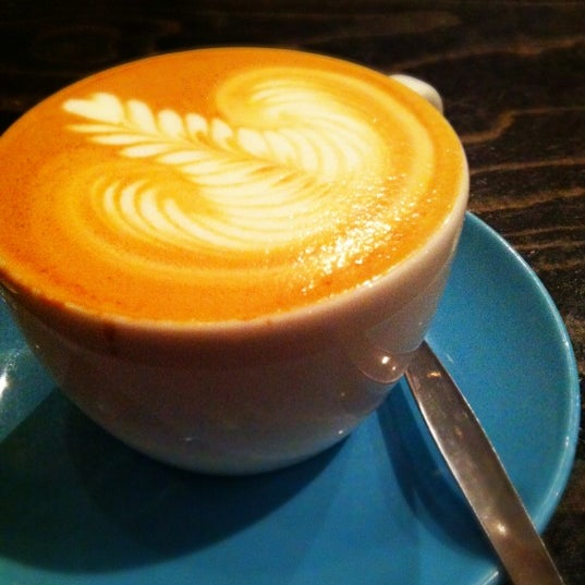 Photo taken at Flat White by Luica M. on 4/18/2012