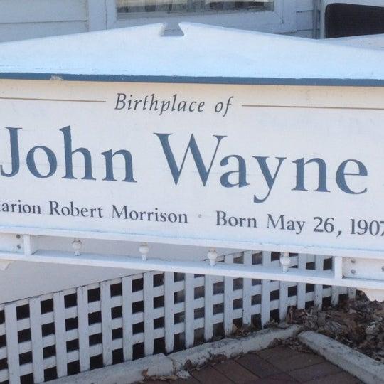 Photo taken at John Wayne Birthplace Museum by Wade W. on 3/14/2012