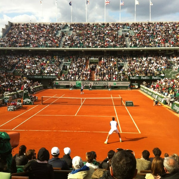 Photo taken at Stade Roland Garros by Thibault d. on 6/2/2013