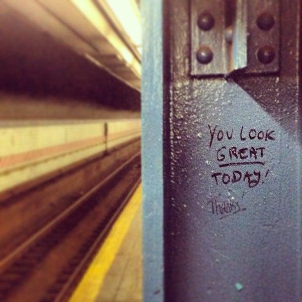 Photo taken at MTA Subway - York St (F) by Greg C. on 8/30/2013