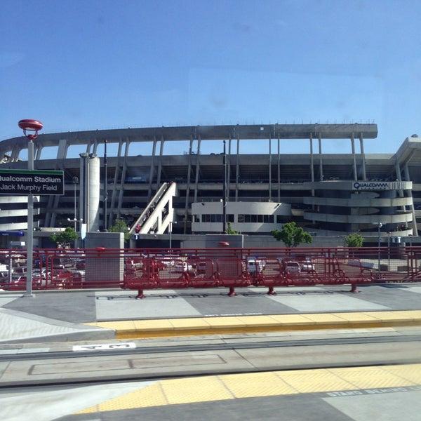Photo taken at Qualcomm Stadium by Mishka M. on 5/25/2013