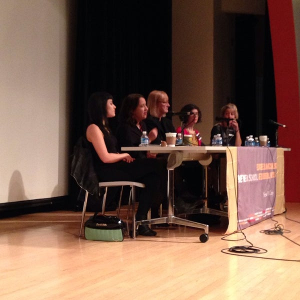 Photo taken at The New School Auditorium at 66W 12th by Sarah W. on 10/19/2013