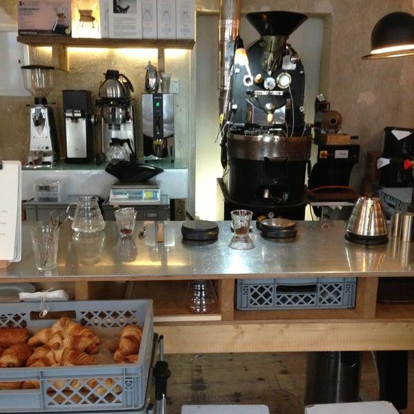 Photo taken at Bonanza Coffee by Aaron G. on 4/5/2013