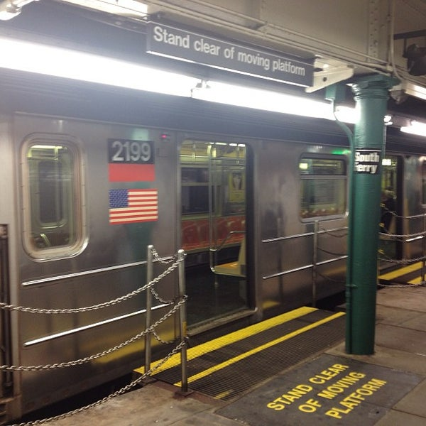 Photo taken at MTA Subway - South Ferry (1) by Jeff K. on 4/5/2013