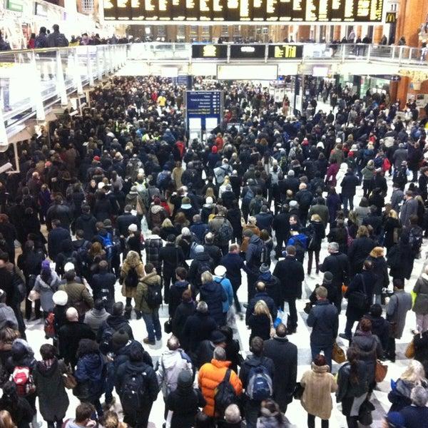 Photo taken at London Liverpool Street Railway Station (ZLS) by Luke E. on 1/23/2013