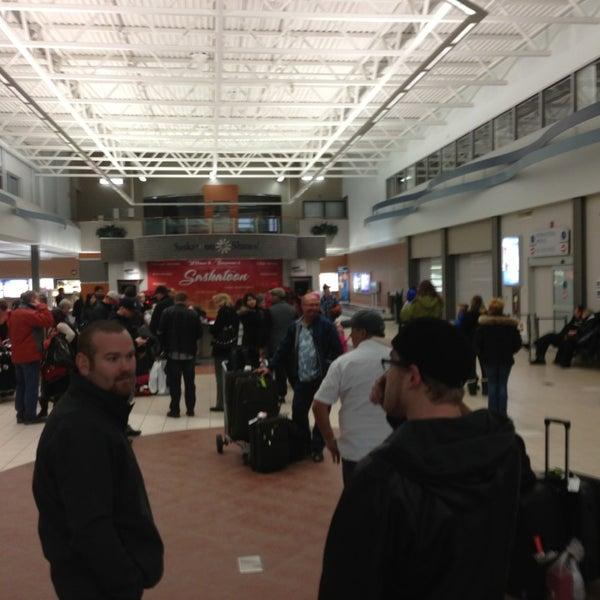 Photo taken at Saskatoon John G. Diefenbaker International Airport (YXE) by David B. on 2/9/2013