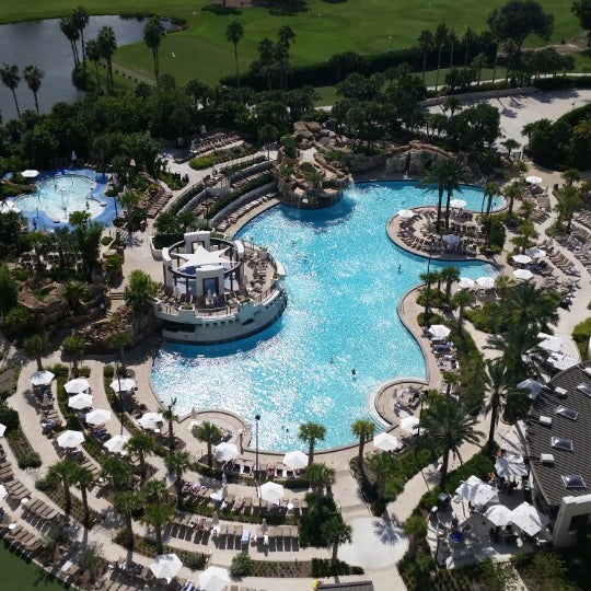 Photo taken at Marriott World Center Pool by Alan M. on 9/25/2014