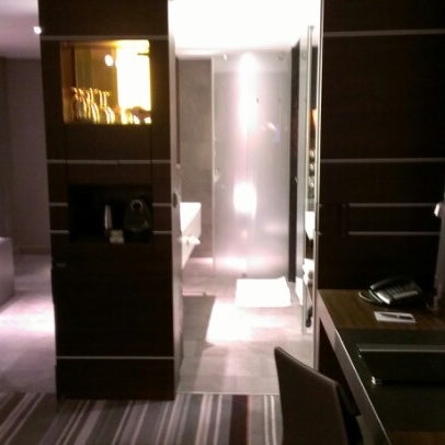 Photo taken at Steigenberger Airport Hotel by Joseph C. on 9/28/2012