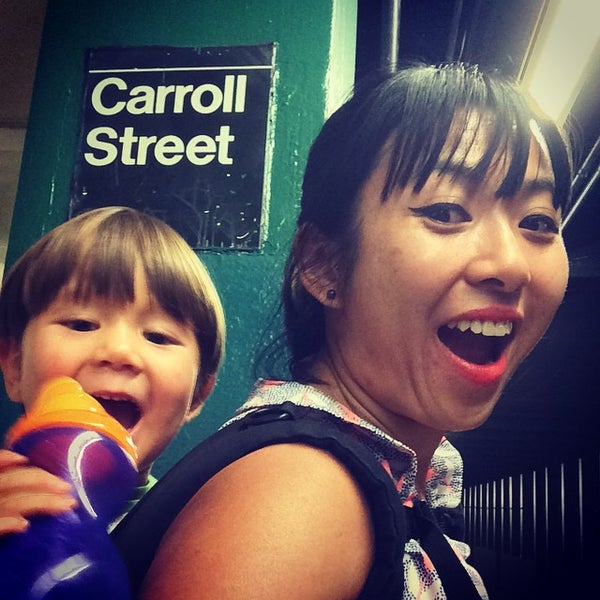 Photo taken at MTA Subway - Carroll St (F/G) by Ami C. on 9/28/2014