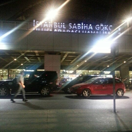 Photo taken at Sabiha Gökçen International Airport (SAW) by aydin on 7/7/2013