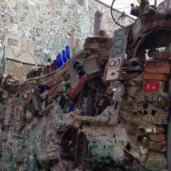 Photo taken at Philadelphia's Magic Gardens by alfred f. on 4/3/2014
