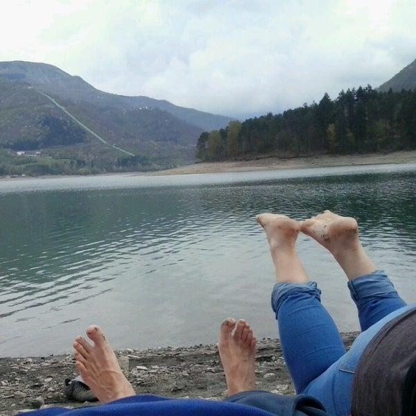 Photo taken at Lago di Suviana by Claudio Q. on 4/13/2014