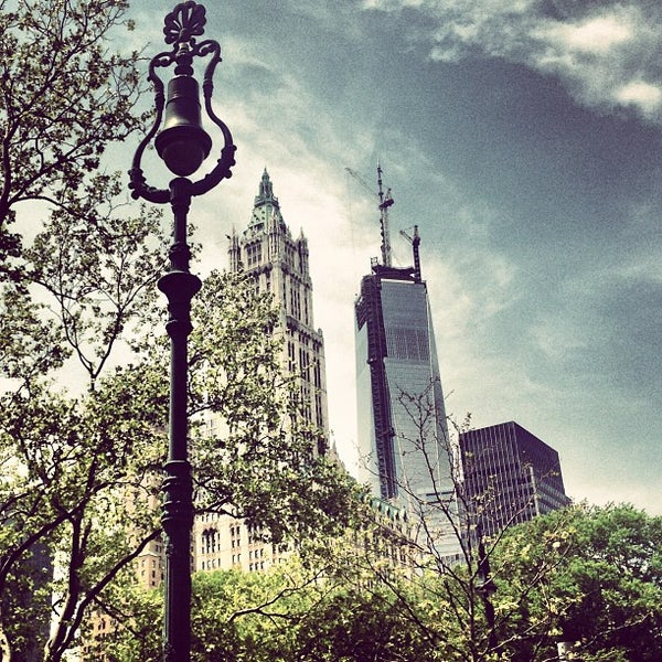Photo taken at City Hall Park by Andy B. on 5/10/2013