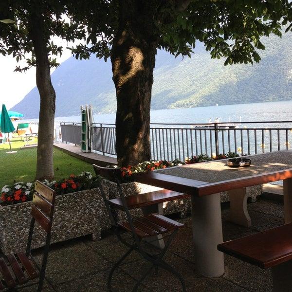 Photo taken at Lago di Lugano by Riethmann C. on 6/21/2013