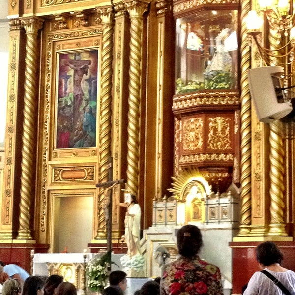 Photo taken at National Shrine of Our Lady of Peace and Good Voyage (Antipolo Cathedral) by Anne C. on 4/28/2013