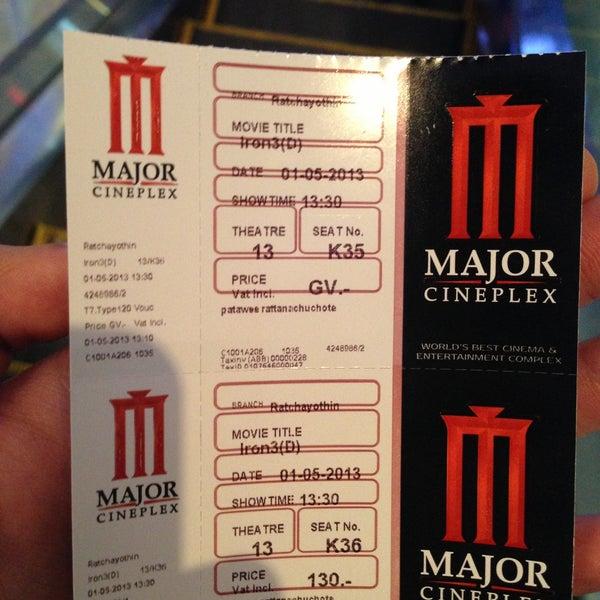 Photo taken at Major Cineplex Ratchayothin by Bestz R. on 5/1/2013