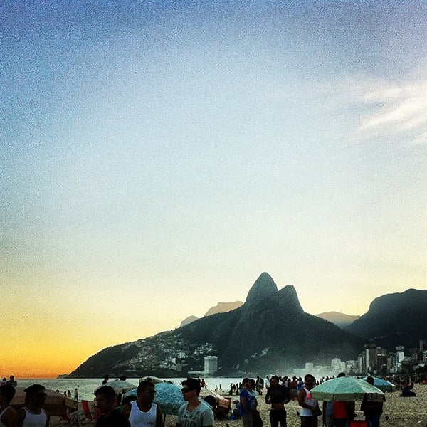 Photo taken at Praia de Ipanema by Filipe F. on 7/6/2013