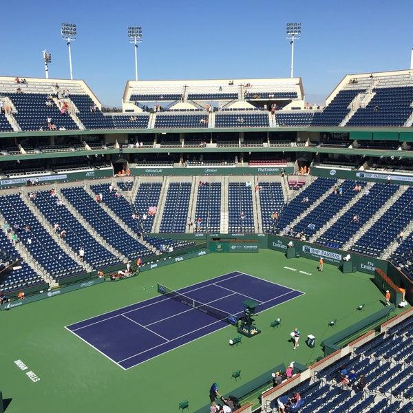 Photo taken at Indian Wells Tennis Garden by Tuobin W. on 3/21/2015