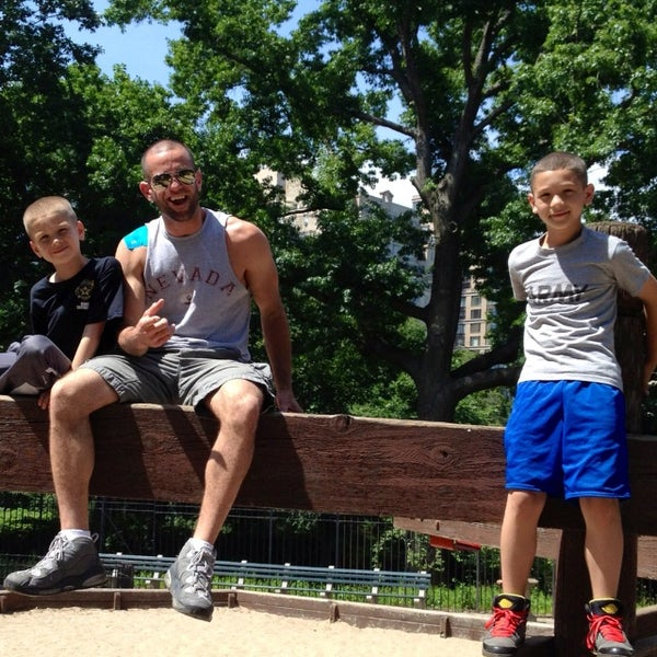 Photo taken at Central Park - Mariners' Gate Playground by Danny R. on 6/23/2013