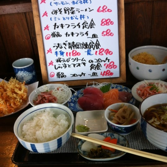 Photo taken at 食堂さくら屋 by eyuvkia on 2/16/2012