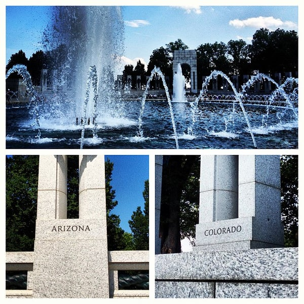 Photo taken at World War II Memorial by William D. on 7/20/2013