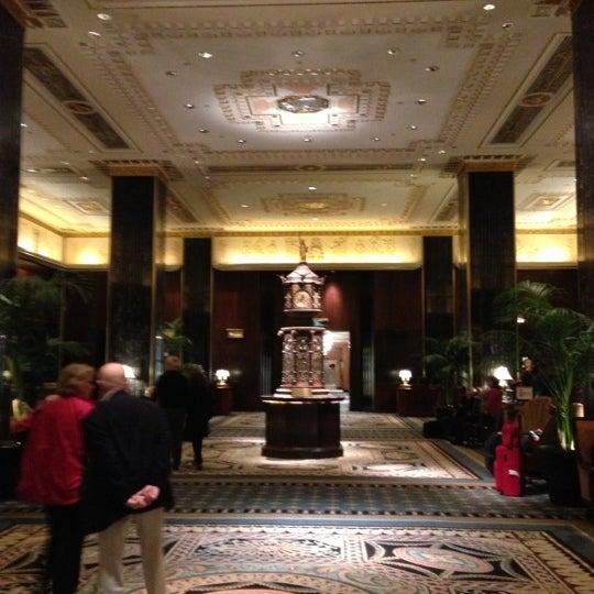 Photo taken at Waldorf Astoria New York by Eddie T. on 10/22/2012