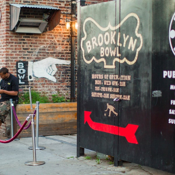 Reggae, rock, jazz, rap, and pop acts grace the stage of Brooklyn Bowl, where bowling comes second to music.