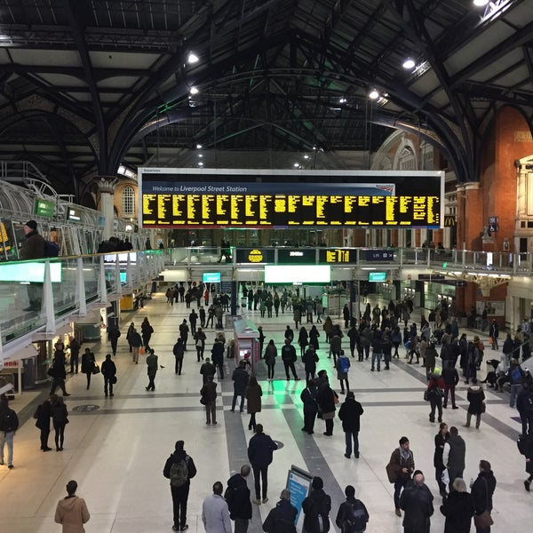 Photo taken at London Liverpool Street Railway Station (LST) by marty p. on 2/21/2015