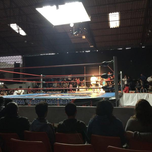 Photo taken at Arena Adolfo Lopez Mateos by Daniel C. on 9/16/2015