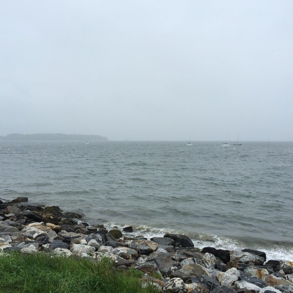 Photo taken at East End Beach by Neal E. on 5/28/2014