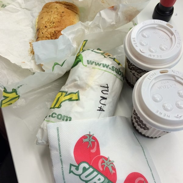 Photo taken at SUBWAY by Lena T. on 5/12/2014