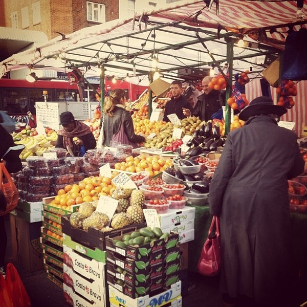 Photo taken at Ridley Road Market by Sean D. on 11/14/2013