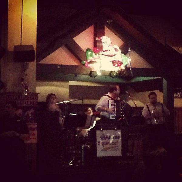Photo taken at Zeppelin Hall Biergarten by Sean S. on 12/23/2012