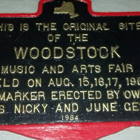 Photo taken at Woodstock Festival Concert Site/Monument by Peter F. on 8/18/2013