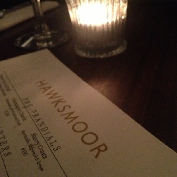 Photo taken at Hawksmoor Spitalfields - The Bar by Alex D. on 10/24/2013