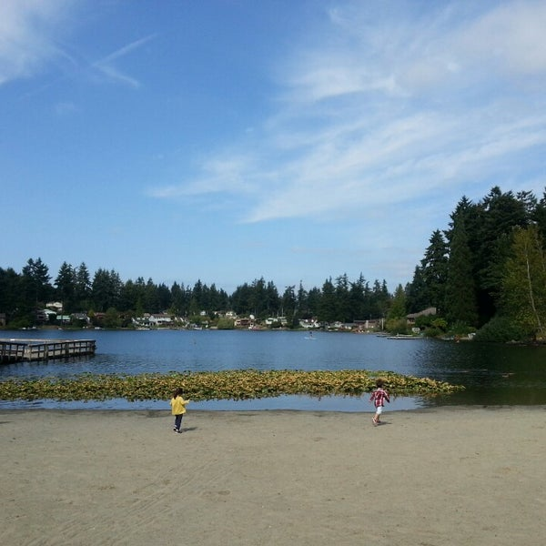 Photo taken at Steel Lake Park by Jihyun K. on 8/20/2014