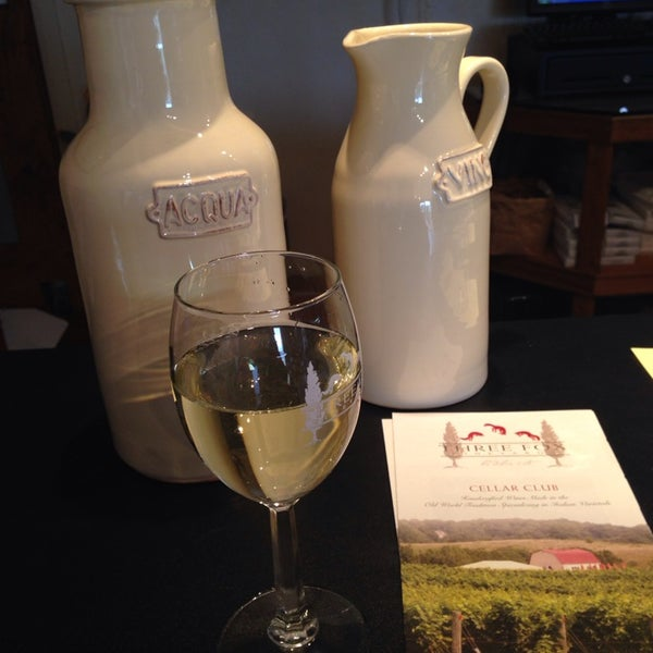 Photo taken at Three Fox Vineyards by Mils R. on 4/4/2014