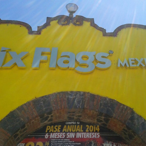 Photo taken at Six Flags by Sandra B. on 3/11/2014