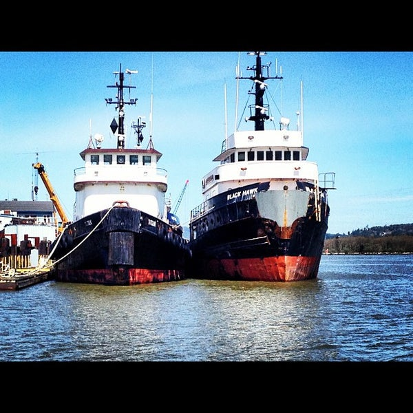 Photo taken at Coos Bay Boardwalk by Lindsey L. on 4/2/2012