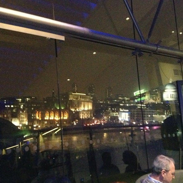 Photo taken at OXO Tower Brasserie by Laura K. on 3/22/2013