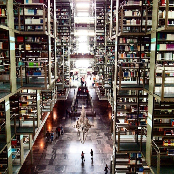Photo taken at Biblioteca Vasconcelos by Patricia O. on 9/6/2014