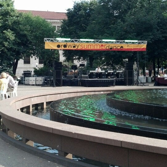 Photo taken at Rice Park by Kell B. on 7/25/2013