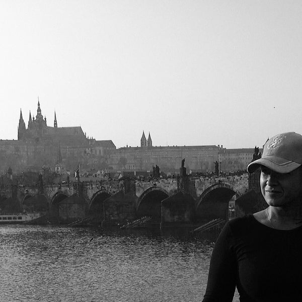 Photo taken at Karlův most | Charles Bridge by Nataliya N. on 3/14/2014