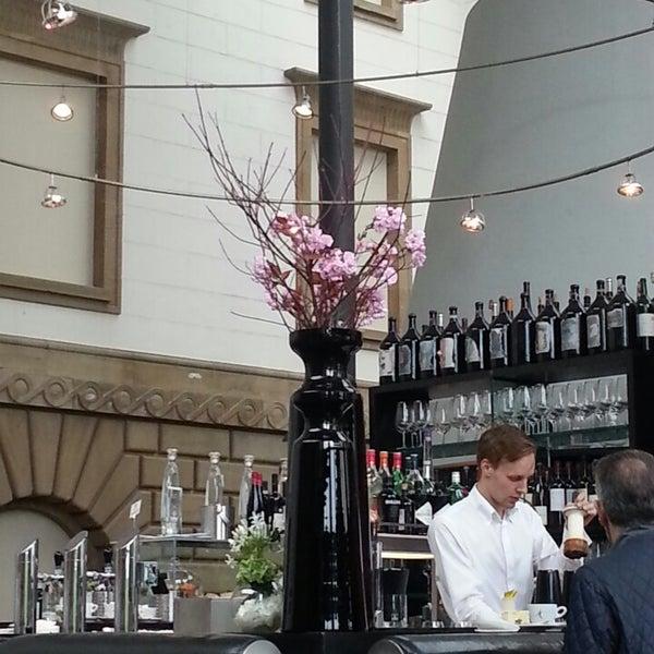Photo taken at Holbein's Café-Restaurant by Victoria B. on 5/11/2014