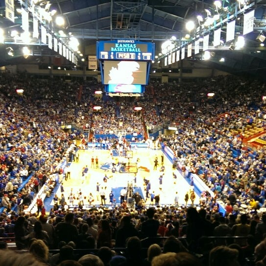Photo taken at Allen Fieldhouse by Kevin T. on 2/25/2014