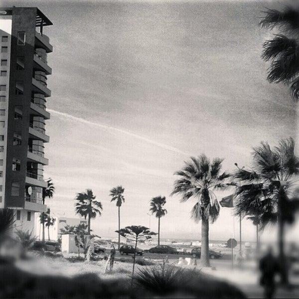 Photo taken at La Corniche de Casablanca by Mohamed A. on 2/4/2013