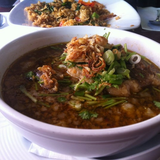 Photo taken at Pam Real Thai by stacey l. on 12/15/2012